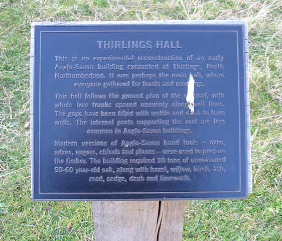 Thirlings Hall plaque