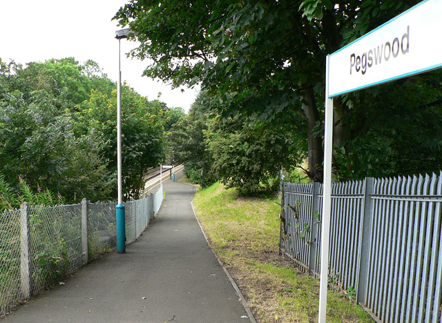 Footpath to the railway station