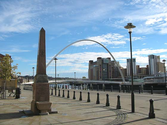 Wesley memorial, Gateshead Millennium Bridge, Baltic