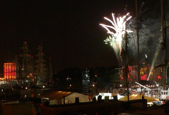 Tall Ships Firework Display