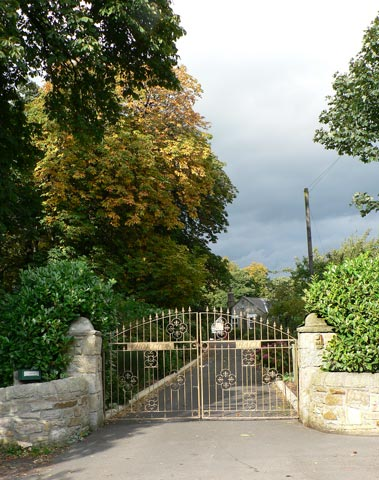 The gates to Whorlton Hall